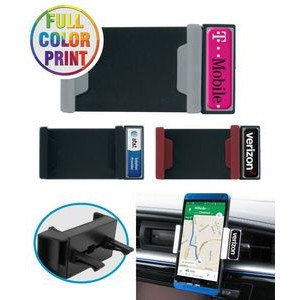 Car Air Vent Mount Phone Holder - Full Color Dome Print Included - NO MINIMUM