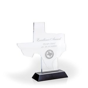 Great State of Texas Award w/ Black Base - Acrylic (8 1/2